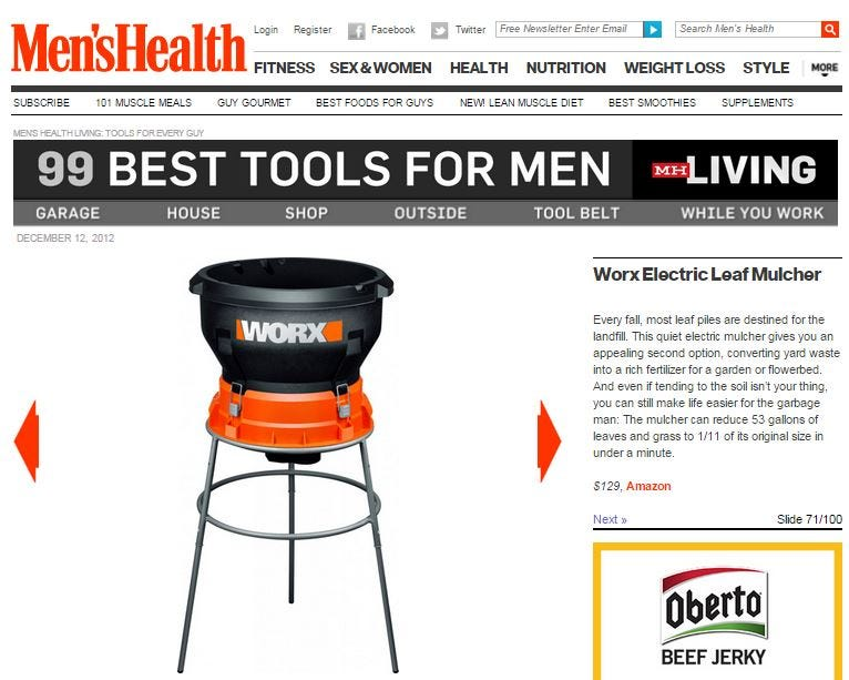 WORX Mulcher in Men's Health
