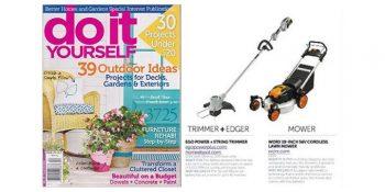 WORX Lawn Mower in Do It Yourself Magazine