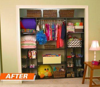 Finished Closet Organizer