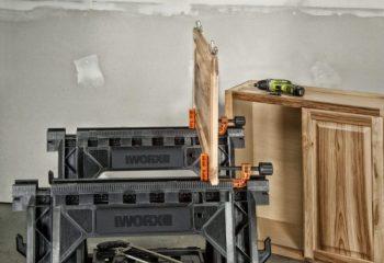 WORX Clamping Sawhorse WX065 cabinet door