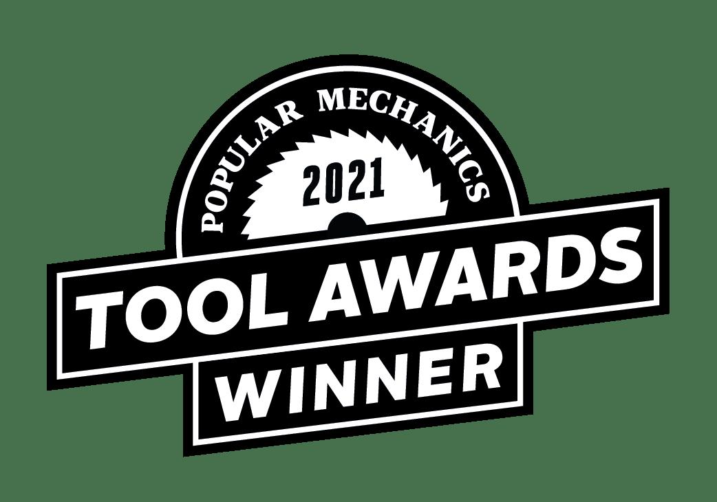 Popular Mechanics 2021 Tools Award Winner badge