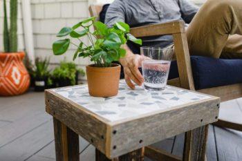 DIY Tile Patio Table