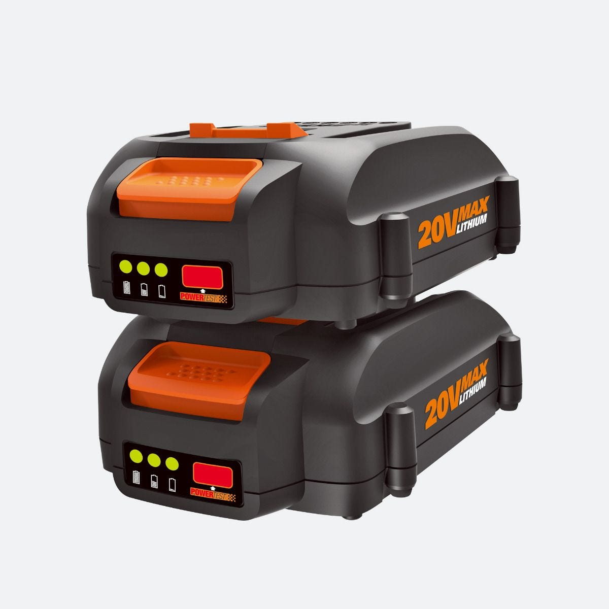 Cache Machine A Laver 20v power share 2.0 ah battery 2-pack