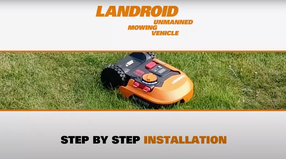 How to install your Landroid Robotic Mower
